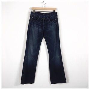 7 For All Mankind Dojo Jeans W/Blue 7's Size 28